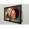 A2  Flat Snap Frame Led Light Box Black Color Backlit For Restaurant Menu Display Manufactures