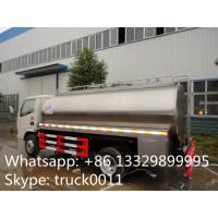 Quality China cheapest price dongfeng 5,000L stainless steel milk tank for sale, food grade liquid good transported truck for sale