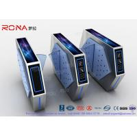 2 Lanes Flap Barrier Turnstile With Ticket Manament System With Light In Cinema Manufactures