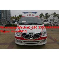 High quality and lower price FOTON MP  E series transiting ambulance vehicle for sale, FOTON gasoline ambulance Manufactures