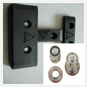 Quality Sliding Pad Carbon Fiber Slider , Lightweight Textile Machine Spare Parts for sale
