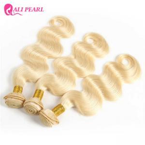 Platinum Brazilian 613 Human Hair Weave 3 Bundles Bleached Body Wave Manufactures