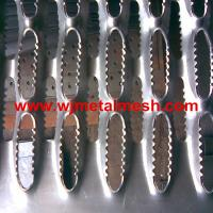 Metal perforated anti slip grating /antiskid perforated metal plate  crocodile type Manufactures