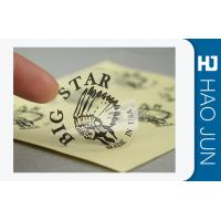 45mm Dia Waterproof Custom Adhesive Stickers Glossy Lamination / Matt Surface