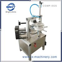 HT900 Manual round  soap pleat wrapper machine with manual labeling machine for hotel batch/ beaty bar/SPA Manufactures