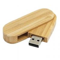 Quality 32GB Cool Swivel Bamboo USB Flash Drive Key , Twist USB Sticks for sale