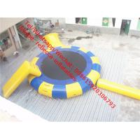 PVC Tarpaulin cheap  inflatable water trampoline rental for adults and kids Manufactures