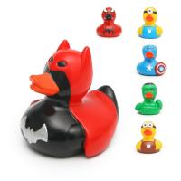 Bathtub Toy Batman Rubber Duck , Mini Marvel Character Rubber Ducks Promotional Gift Manufactures