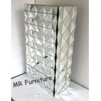 French Style Mirror Chester Drawers Furniture , 6 Drawers Mirrored Console Chest Manufactures