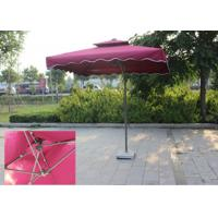 Suspended Rectangular Outdoor Umbrella Bali Style Digital Printed For Villa Manufactures