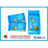 Individual Packaging 1pcs* 10 / Bag Baby Wet Wipes Fragrance Free Cotton Like Texture Manufactures