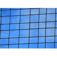 Building Decoration Aluminium Curtain Wall Thermal Break Profiles Blue Color Manufactures