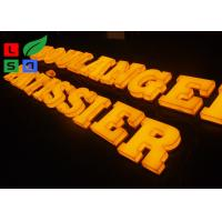 3D Logo LED Light Up Letters , Solid Arylic Illuminated Channel Letters For Shop Front Signage Manufactures