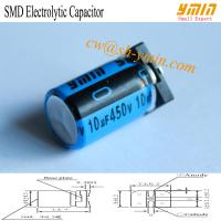 Buy cheap 10uF 450V 10x16.5mm SMD Capacitors VKL Series 125°C 2,000 ~ 5,000 Hours SMD Aluminum Electrolytic Capacitor  RoHS from wholesalers