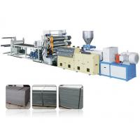 Decorative Single Screw Plastic Extrusion Machine For PVC Faux Marble Board Manufactures