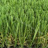 Silky Soft Monofilament PE + Curly PP Outdoor Artificial Turf / Artificial Grass Carpet Rug Manufactures