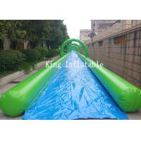City Outdoor Giant PVC Inflatable Slip N Slide / Water Slide 100m For Adults Manufactures