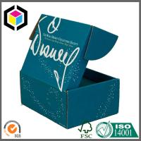 Full Color CMYK Print Corrugated Cardboard Shoe Shipping Box Folding Style Manufactures