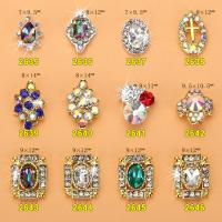 Hot NEW Wholesale Alloy Jewelry 3D Nail Art Jewelry Nail rhinestones Sticker Supplier Number ML2635-2646 Manufactures