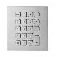 19 Keys Water Proof Metal Keypad Stainless Steel desk top solution with USB and PS2 interface Manufactures
