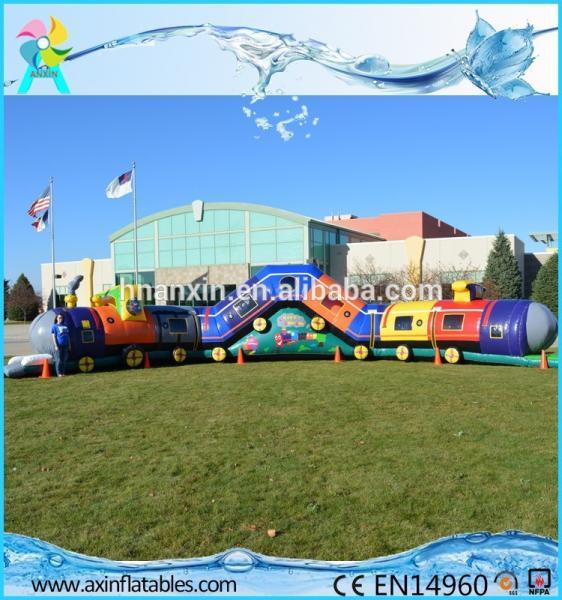 Chuggy Choo Choo train bouncer inflatable tunnels for kids