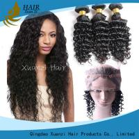 Buy cheap Wholesale Best  360 Lace Front with Bundle Deep Waves Brazilian Virgin Hair Front Closure 360 from wholesalers