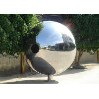 Polished Outdoor Metal Sculpture Stainless Steel Decorative Balls For Yard Decoration Manufactures