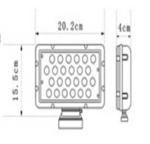 Quality Square 8 Inch 24 Watt Cree Led Work Light Head Lamp for Excavato / ATV boat light for sale