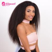 Yaki Straight Long Lace Front Wigs Human Hair , Black Remy Lace Front Wigs Manufactures