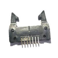 Long Latch 2.54 Mm Pitch Pin Header , PBT Straight 14 Pin Header Connectors Manufactures
