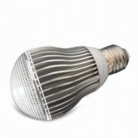 LED Bulb Light with 175 to 240V AC Voltage and E27 Lamp Cap, Measures 60 x 107mm Manufactures