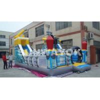 Digital Printed Robot Inflatable Fun City / Giant Inflatable Toy For Promotion Manufactures