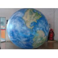 PVC Huge Round Earth Globe Balloons Hydrogen Filling With 125 Foot Tether Line Manufactures