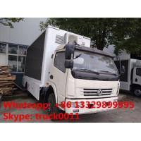 HOT SALE! dongfeng 120hp diesel P6/P8 LED digital billboard truck, DONGFENG 4*2 RHD outdoor LED screen advertising truck Manufactures