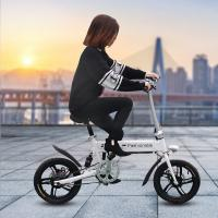 16 Inch Size Folding Electric Bike Black / White Color Easy To Fold For Adult Manufactures