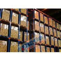 Blue Orange Material Handling Racks Drive Through Racking For Cold Storage Manufactures