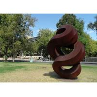 Spiral Large Rusted Iron Sculpture , Modern Rusted Metal Garden Sculptures Manufactures