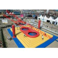 outdoor inflatable sports games inflatable volleyball court with_trampoline Manufactures