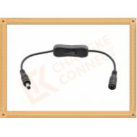 12V DC Male to Female Custom Cable Assembly With Switch On Off Manufactures