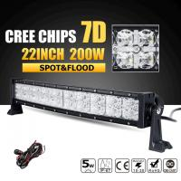 Super Bright Row 3W Cree Off Road Led Light Bar 7D Reflector With Dayrunning Light IP68 Waterproof Manufactures