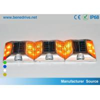 Square Solar Barricade Lights Aluminum Alloy Housing Double Sides LED Flashing With Reflectors Manufactures