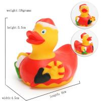 Promotional Gift Mini Christmas Rubber Duck With Santa Hat / Custom Logo 6P Free Manufactures