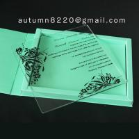 ICE(7) simple love plastic scroll invitation rods Manufactures
