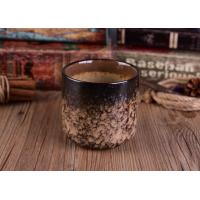 Leopard Print Transmutation Ceramic Candle Holder For Scent Candle , Round Bottom Manufactures