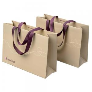 Reusable White 250gsm Boutique Paper Bags For Gift