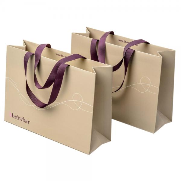Quality Reusable White 250gsm Boutique Paper Bags For Gift for sale