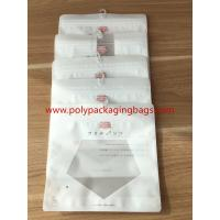 Reclosable Zip lock Poly Bags With Hangers Hook / Plastic Custom Printed Bags