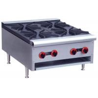 Commercial Restaurant Cooking Equipment Table Top Gas Stove With 1 / 2 / 4 / 6 Burners Manufactures