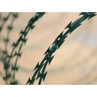 Quality PVC Coated Razor Barbed Wire Anti-rust Spray Painting Barbed Wire fencing for sale