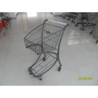 Free Duty Shop 40L Supermarket Shopping Trolley , Airport Shopping Cart Manufactures